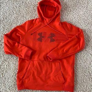 Under armour hoodie. Orange. Men's size med